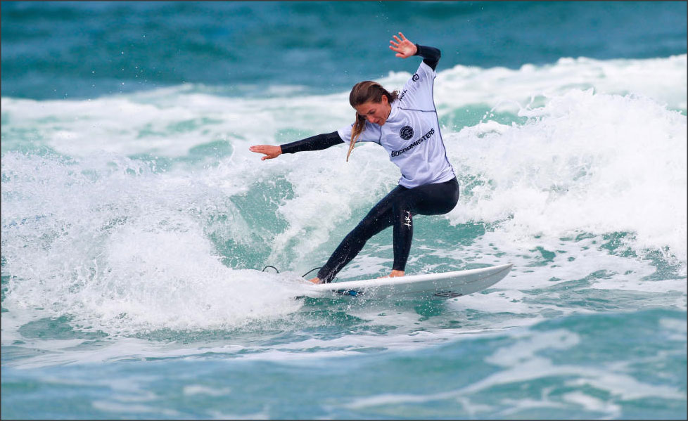 Tehillah competing at Boardmasters
