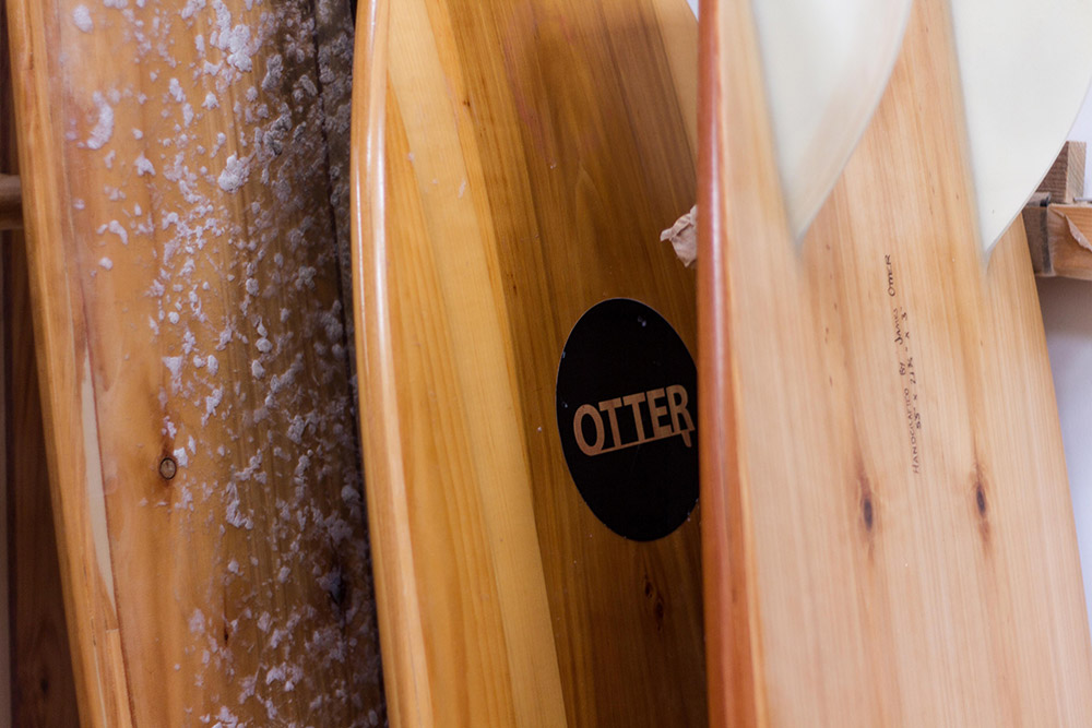 james otter wooden surf