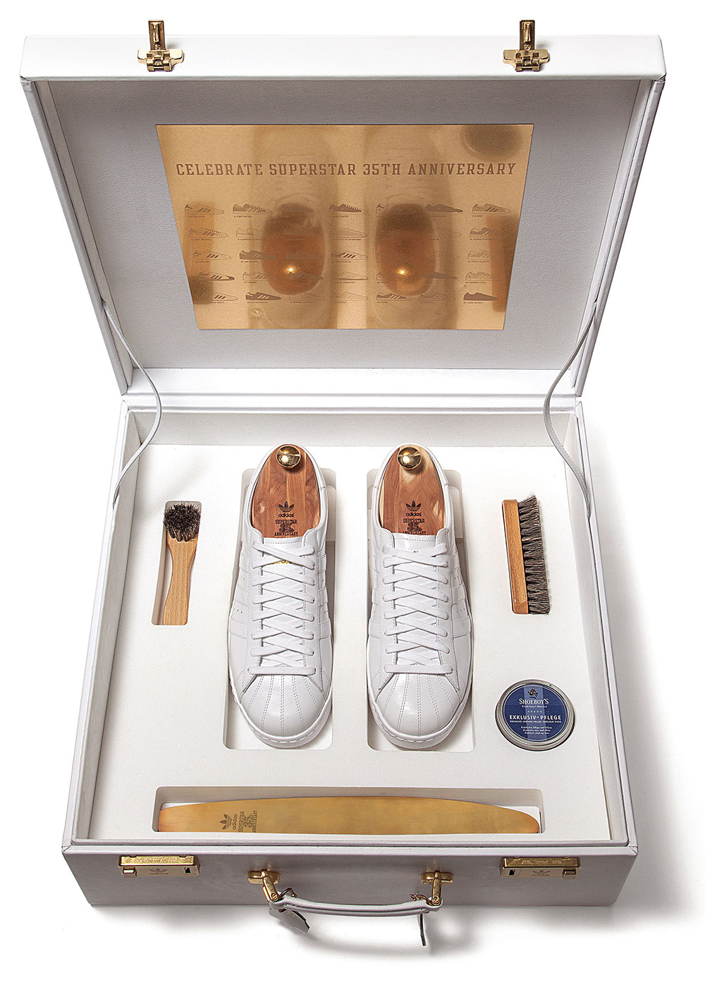 2005: Superstar #35 was entirely handmade and presented in a white case with gold-plated hardware. Photograph: Taschen