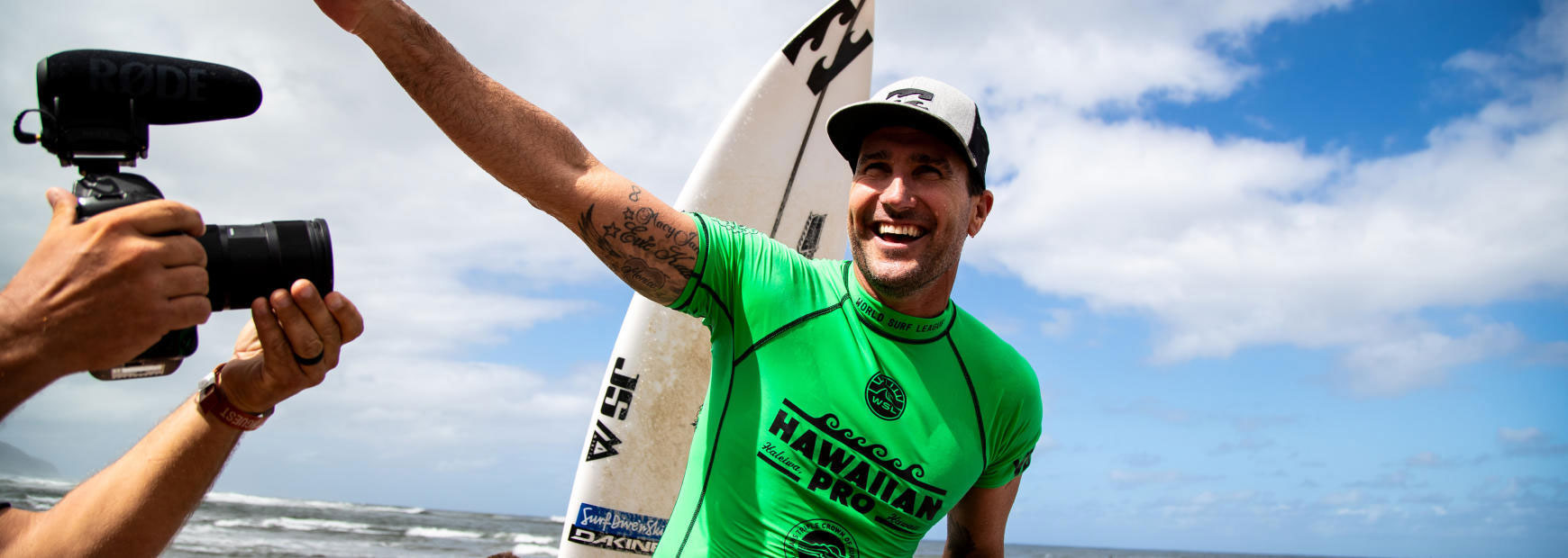 Joel Parkinson takes the first event in the Vans Triple Crown in Hawaii.