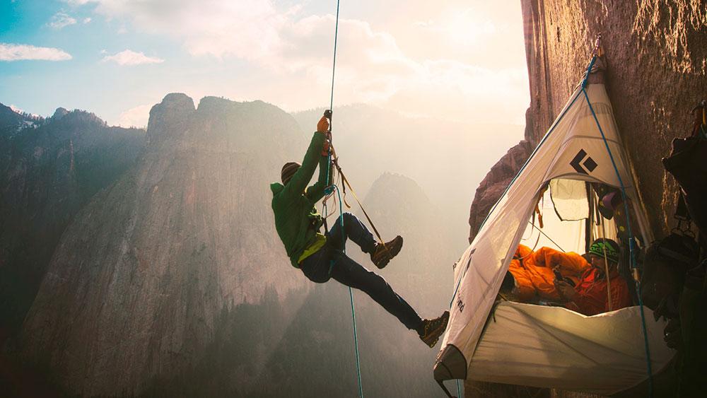 Tommy Caldwell free climbing El Capitans Dawn Wall