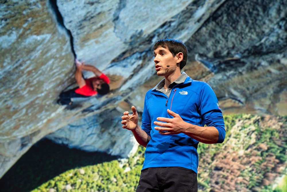 alex honnold giving a ted talk