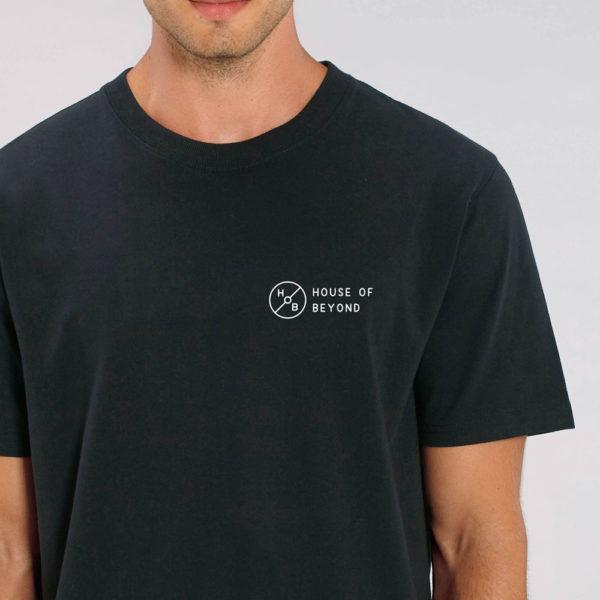 House of Beyond signature black T Shirt hem tag1