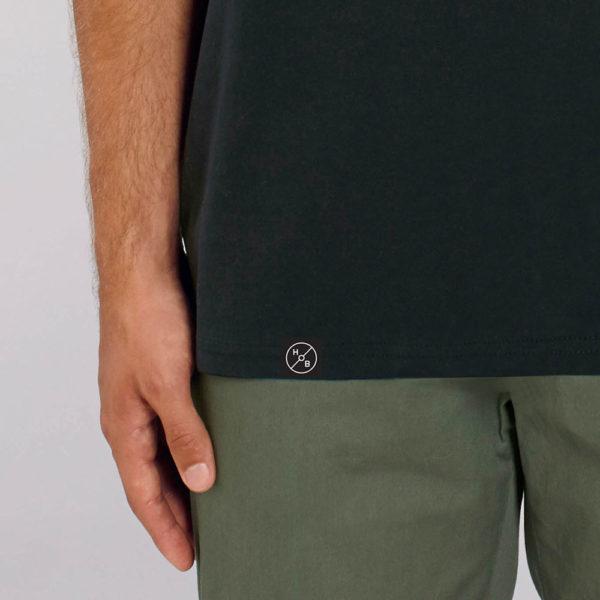 House of Beyond signature black T Shirt hem tag2