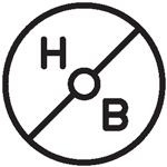 hob square black 150