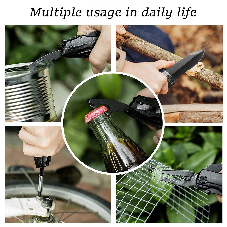 Faltbares Multi-Tool Taschenmesser, Bibury 5-in-1 Multifunktionsmesser